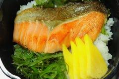 Teriyaki Salmon Don foto de stock
