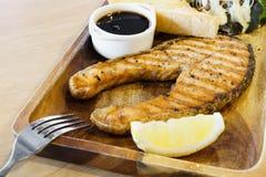 Teriyaki salmon steak Royalty Free Stock Photos