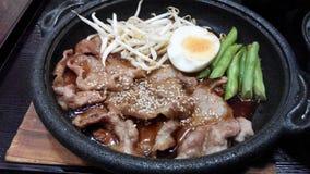 Teriyaki-Schweinefleisch Stockbild