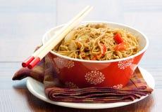 Teriyaki Sesame Noodles Royalty Free Stock Photo