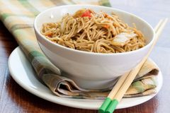 Teriyaki Sesame Noodles Stock Images