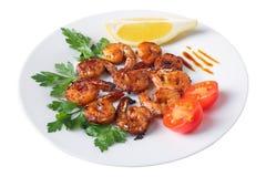 Teriyaki shrimps Stock Photo