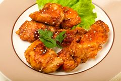 Teriyaki thighs. With sesame seeds Royalty Free Stock Images