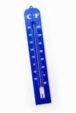 Termómetro azul fotografía de archivo