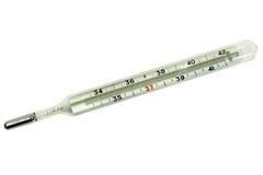 Termómetro de mercurio médico Imágenes de archivo libres de regalías
