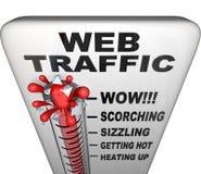Termómetro del tráfico del Web - aumento del renombre Imágenes de archivo libres de regalías