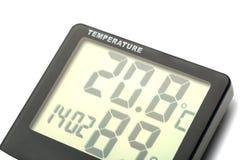Termómetro electrónico Imagen de archivo libre de regalías