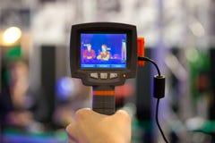 Termómetro infrarrojo Imagen de archivo libre de regalías