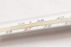 Termómetro médico del Mercury Imagenes de archivo