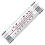 Termómetro para el refrigerador Fotografía de archivo libre de regalías