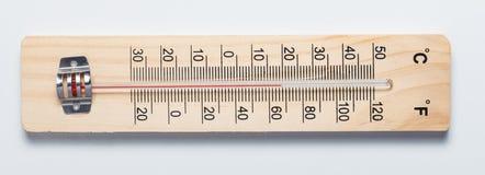 Termómetro rústico Imagen de archivo libre de regalías