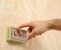 Termóstato del aire acondicionado fotos de archivo libres de regalías