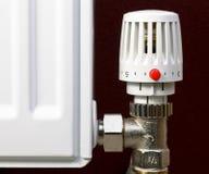 Termóstato del radiador Imagen de archivo libre de regalías
