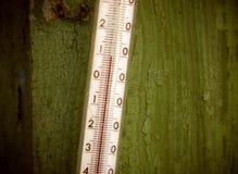 Termômetro ao ar livre Fotografia de Stock Royalty Free