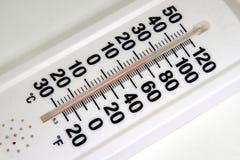 Termômetro branco Fotografia de Stock Royalty Free