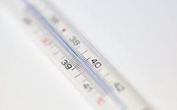 Termômetro da febre Foto de Stock Royalty Free