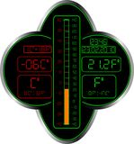 Termômetro de Celsius e de Fahrenheit Imagens de Stock Royalty Free
