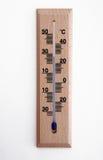 Termômetro de madeira Fotografia de Stock