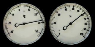 Termômetro e hidrômetro Fotos de Stock