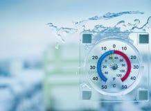 Termômetro exterior Imagens de Stock
