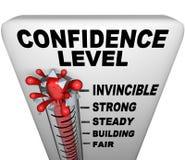Termômetro - nível de confiança ilustração stock