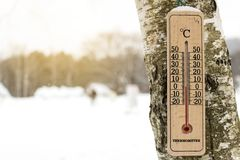 Termômetros 0 Celsius Imagens de Stock Royalty Free