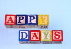 The term appy days Royalty Free Stock Image
