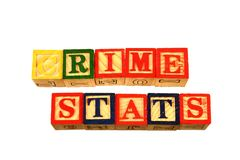 The term crime stats visually displayed on a white background Stock Images
