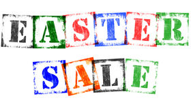 Term Easter Sale from Stamp Letters, Retro Grunge Design Stock Photo