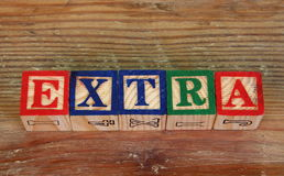 The term extra Royalty Free Stock Photos