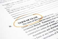 Term of  lease  Stock Photos