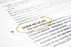 Term of  lease  Stock Photos