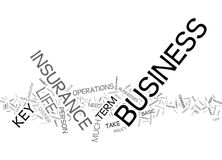 Term Life Insurance For Business Owners Or Key Executives Text Background Word Cloud Concept Stock Photography