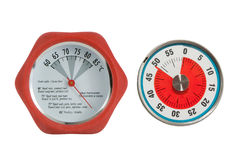 Termômetro de carne e temporizador da cozinha Foto de Stock