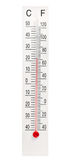 Termômetro de mercúrio home no fundo branco Fotografia de Stock