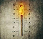 Termômetro do fósforo Imagem de Stock Royalty Free
