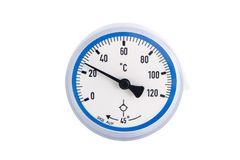 Termômetro industrial Fotos de Stock Royalty Free