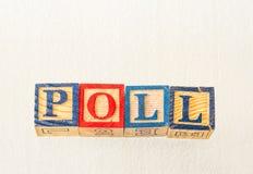 The term poll displayed visually