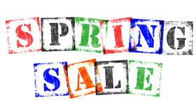 Term Spring Sale from Stamp Letters, Retro Grunge Design Royalty Free Stock Photo