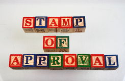 The term stamp of approval Royalty Free Stock Photos