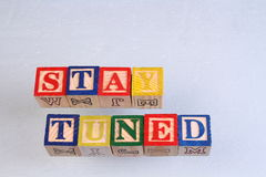 The term stay tuned Royalty Free Stock Photo