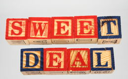 The term sweet deal presented visually