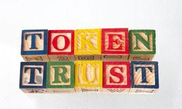 The term token trust visually displayed royalty free stock photo