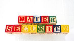 The term water security visually displayed stock photography
