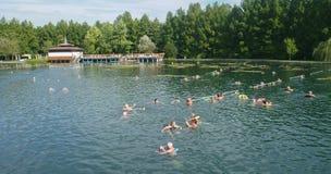 Termal sjö i Heviz i Ungern Arkivbilder