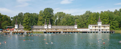 Termalmeer in Heviz in Hongarije Royalty-vrije Stock Foto