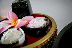 Termas de creme da massagem Imagens de Stock Royalty Free