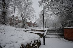 Termas de Leamington - Reino Unido - dia de inverno Fotografia de Stock