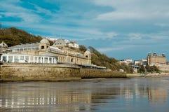 Termas de Scarborough acima da praia Foto de Stock Royalty Free