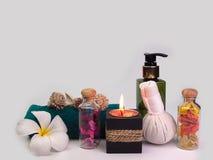 Termas dos elementos e bem-estar, lugar em um fundo branco Fotografia de Stock Royalty Free